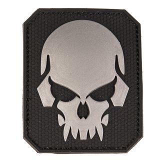 Mil-Tec 3D Merkki Skull Velcro Musta