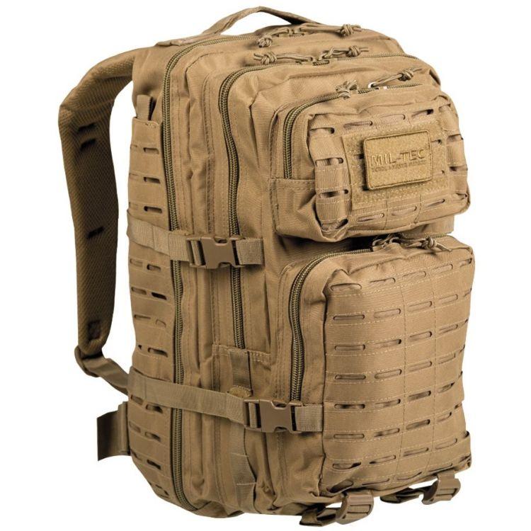 25409d4babac Mil-Tec Assault Pack 36L Laser Cut Coyote - Mökkimies.com