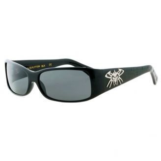 Black Flys Louis Flytton Shiny Black Smoke Polarized