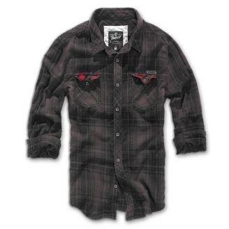 Brandit Checkshirt Duncan Kauluspaita Tumma Ruutu