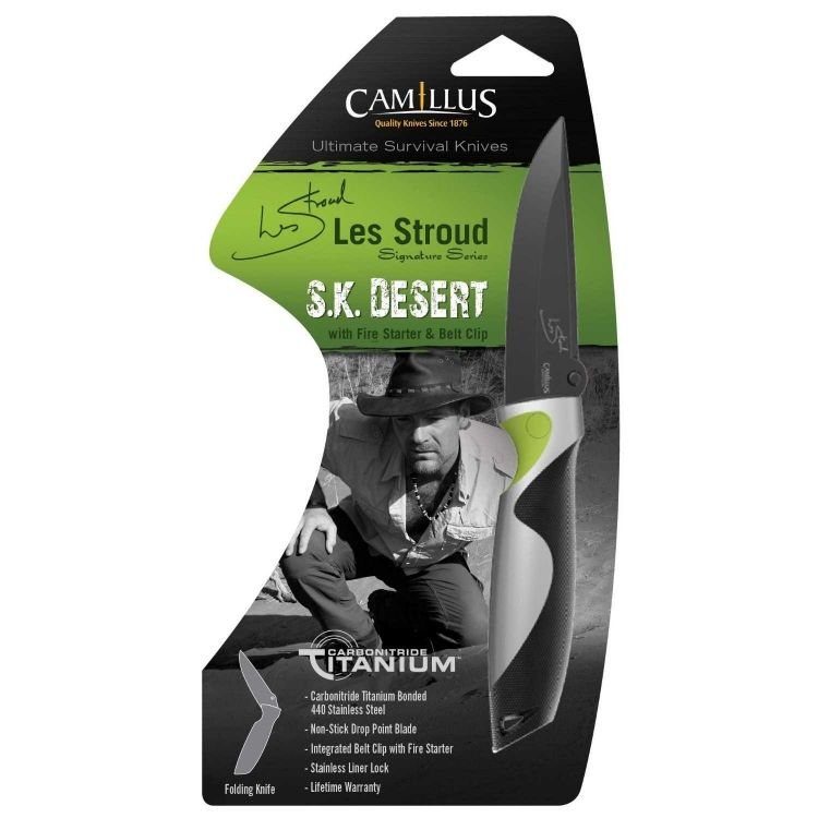 Camillus Les Stroud SK Desert Folding Knife