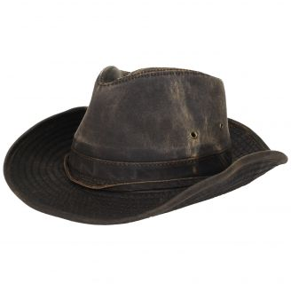 DPC Weathered Cotton Outback Hat Brown