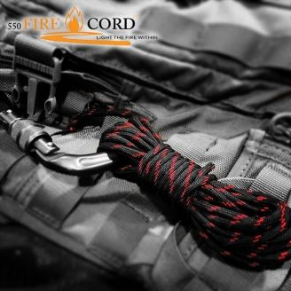 Live Fire Gear 550 Firecord Thin Red Line