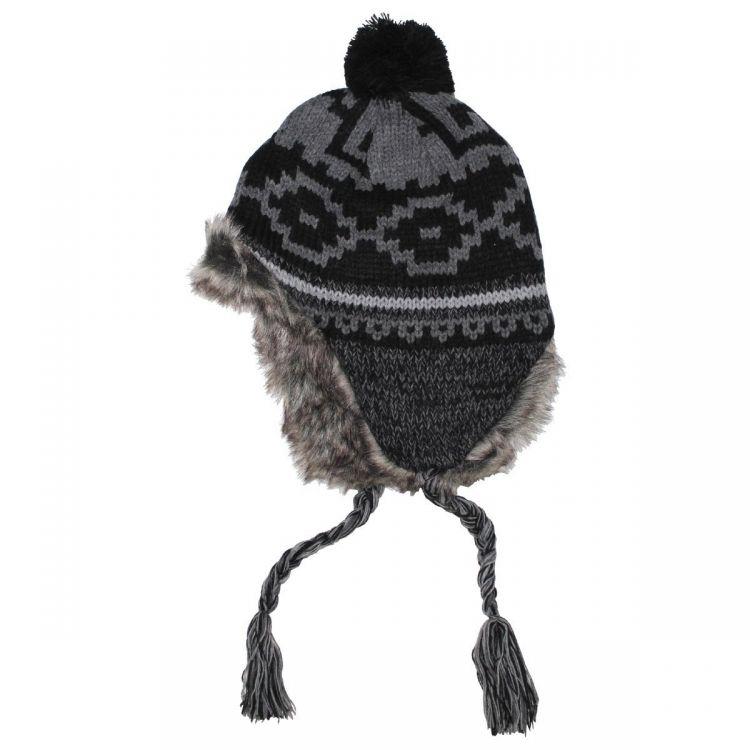 Fox Outdoor Peru Piura Winter Hat Black Grey - Mökkimies.com 88c917c2dcfa