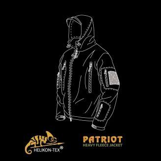 Helikon-Tex Patriot Fleecetakki Musta