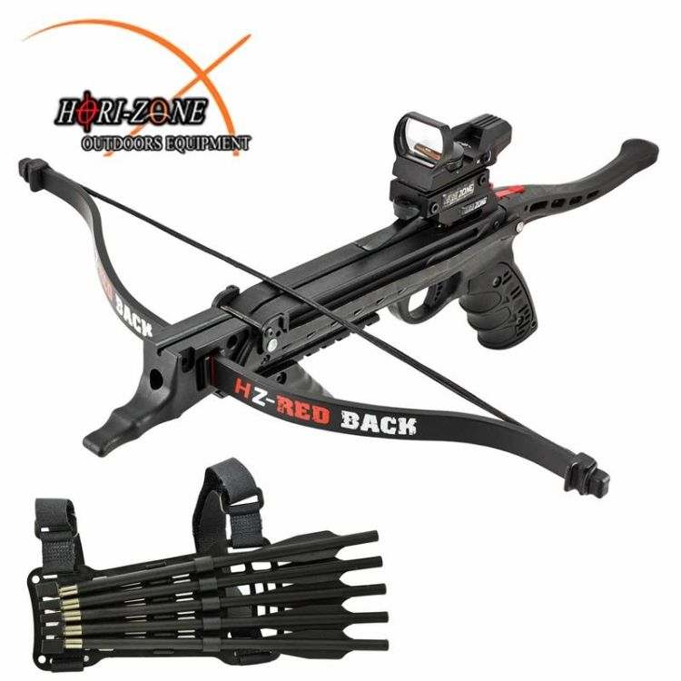 Hori zone pistol crossbow redback deluxe 80lbs m for Fishing crossbow pistol