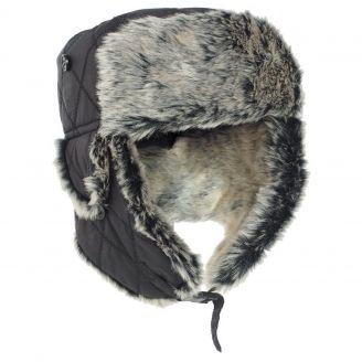 Mil-Tec Faux Fur Hat Black