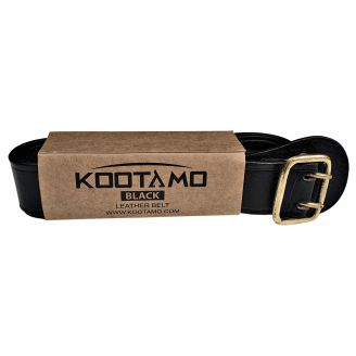 Kootamo Black Leather Belt, Bushcraft, Utility