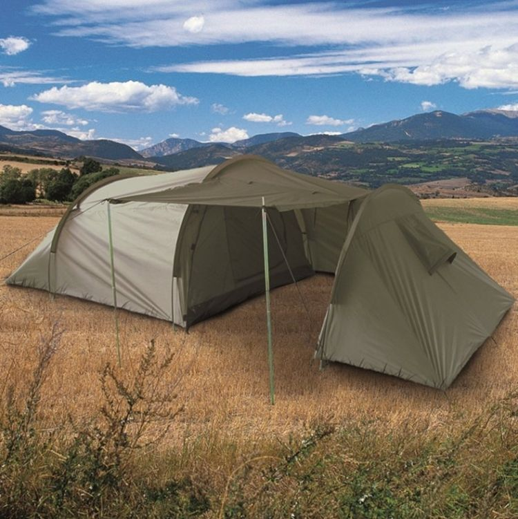 Large 3+3 Men Person Tent Camping Hiking Festival Travel Bushcraft Shelter Olive