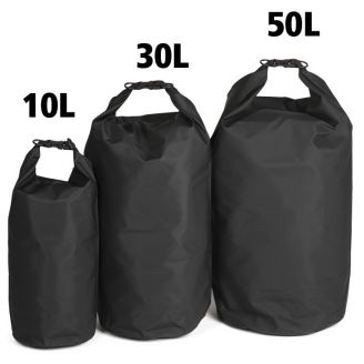 Mil-Tec Dry Sack Pussi Musta 50l