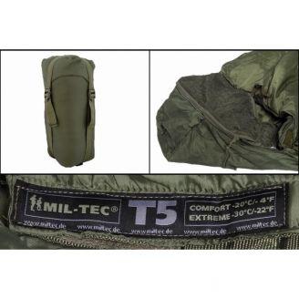 Mil-Tec Makuupussi Tactical T5 Vihreä