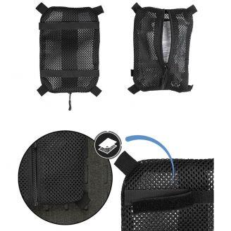 Mil-Tec Verkkotaskut Velcrolla Musta