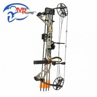 Man Kung Mirage Compound Bow Set 15-70lbs RH Camo