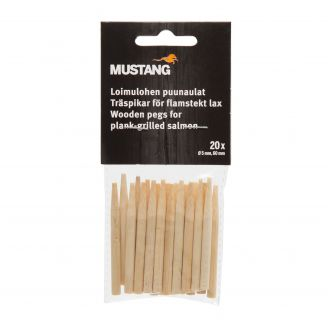 Mustang Wooden Pegs for Plank Grilled Salmon 20pcs