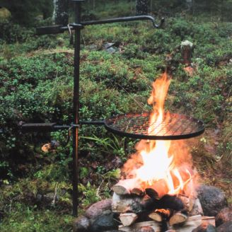 Mustang Fire Pit Grill Grate Blacksmith