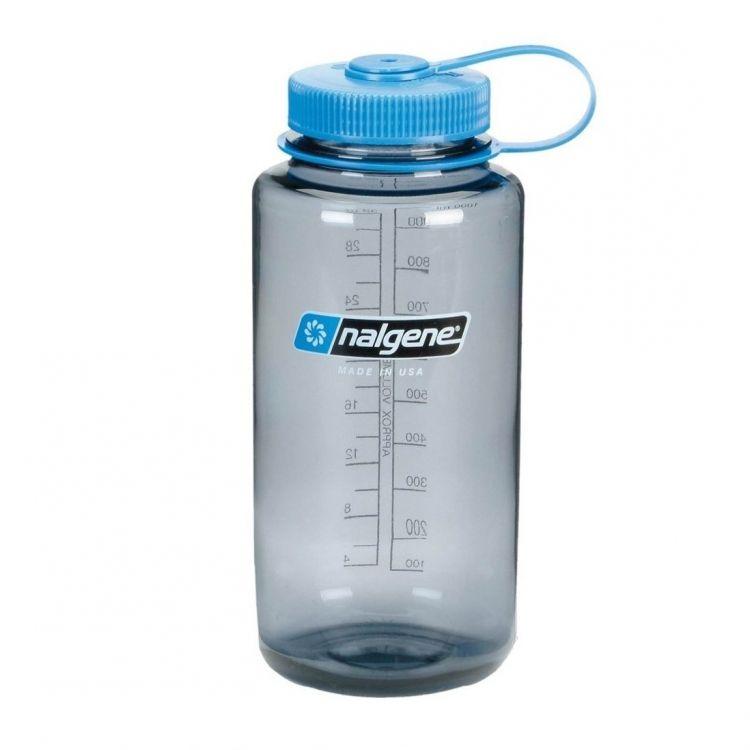 Nalgene Bottle 1L Wide Mouth Gray