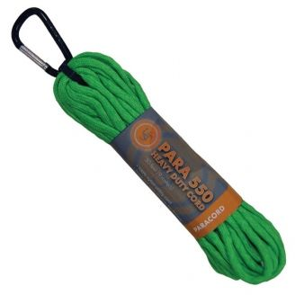 UST 550 Paracord Hank w. Carabiner 30ft Green