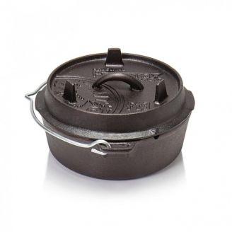 Petromax Dutch Oven Cast Iron Pot 1.8L Flat Base