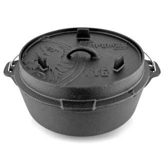 Petromax Dutch Oven Valurautapata 6.1L Tasapohjainen