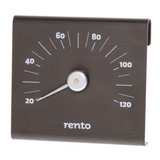 Rento Lämpömittari Alumiini Tervanruskea