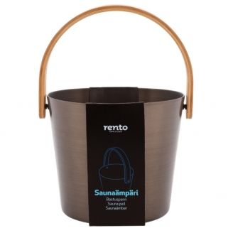 Rento Sauna Bucket Tar Brown