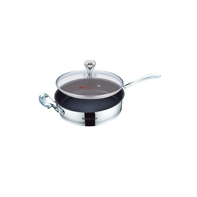Royalty Line 24cm Teflon Fry Pan With Glass Lid