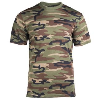 Mil-Tec Single Jersey T-Paita Woodland