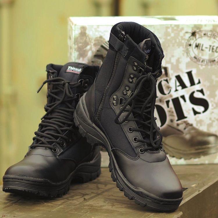 ab28c7abd29 Mil-Tec Tactical Boots With YKK Zipper Black - Mökkimies.com