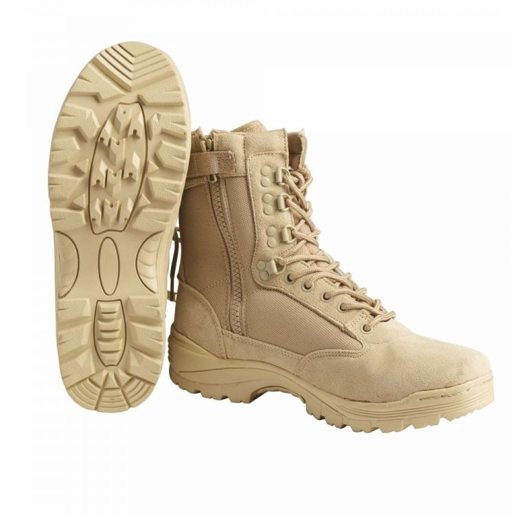 Mil-Tec Tactical Boots With YKK Zipper Desert