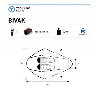 Trimm Bivak 2P Teltta Hiekka