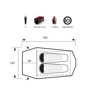 Trimm Spark-D 2P Teltta