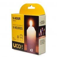 UCO 9-Tunnin Kynttilät 3-Pack