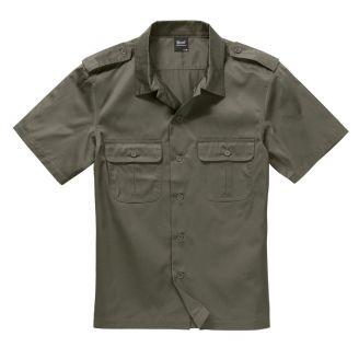 Brandit U.S. Army Shirt Lyhythihainen Olive