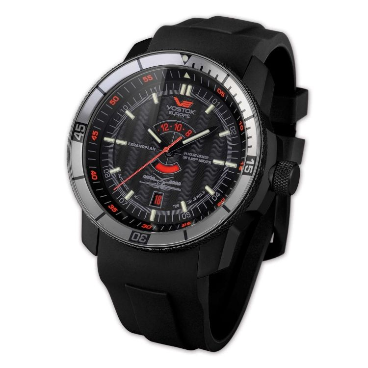 Vostok Europe Ekranoplan Black Watch