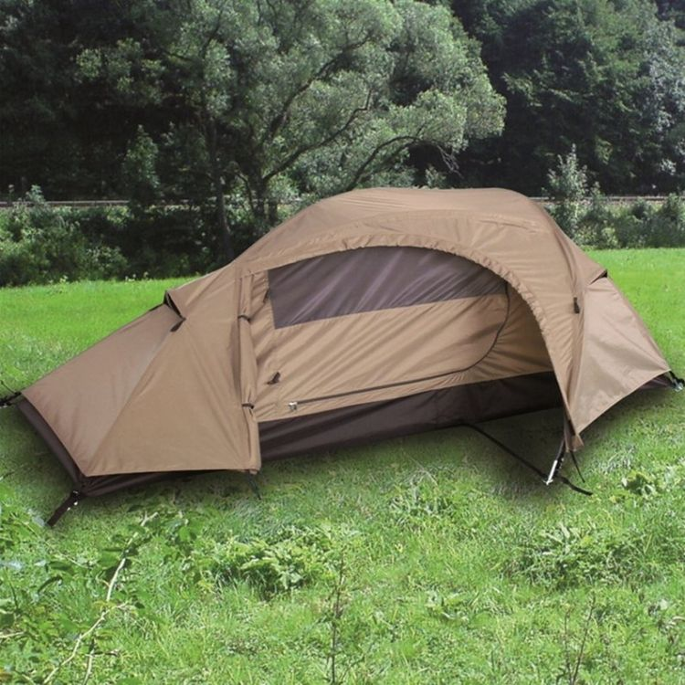 Mil-Tec One Man Tent Recon Coyote & Mil-Tec One Man Tent Recon Coyote - Mökkimies.com