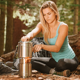 Wood burning camping stoves